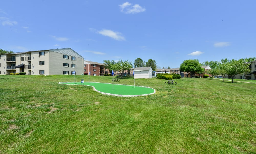 Our Apartments in Levittown, Pennsylvania offer a putting green & large grass recreation area