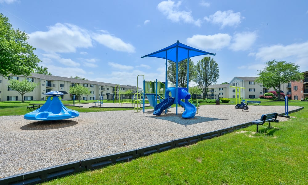 Apartments with a Playground in Levittown, Pennsylvania