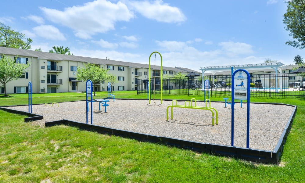 Outdoor Fitness Area at Chesterfield Apartment Homes in Levittown, Pennsylvania