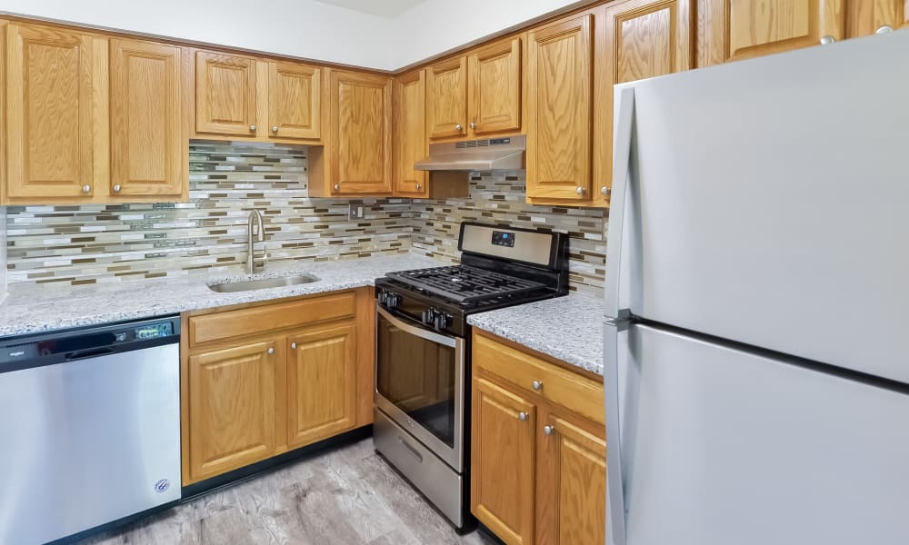 Kitchen at Chesterfield Apartment Homes in Levittown, Pennsylvania