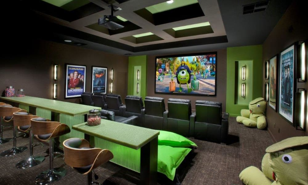 Onsite movie theater at Vive in Chandler, Arizona