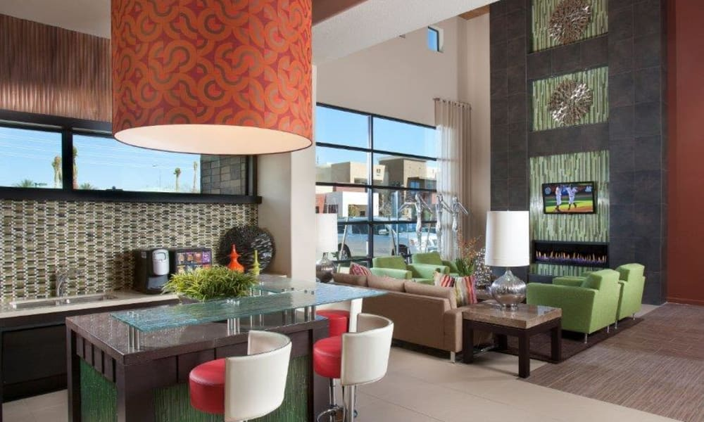 Terrific places to gather with your friends and neighbors in the clubhouse at Vive in Chandler, Arizona