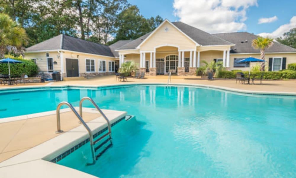 Inviting swimming pool at Walden at Chatham Center in Savannah, Georgia
