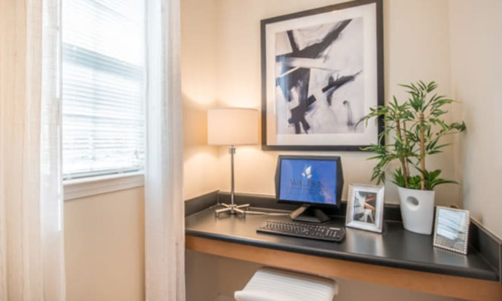 Work nook in a model home at Walden at Chatham Center in Savannah, Georgia