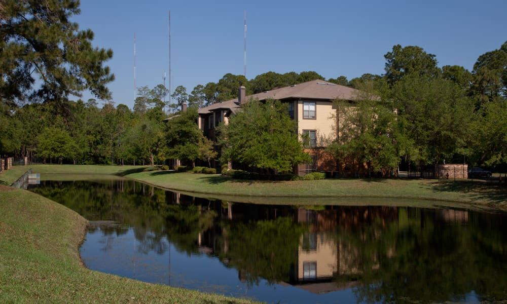 Onsite pond at Wimberly at Deerwood in Jacksonville, Florida