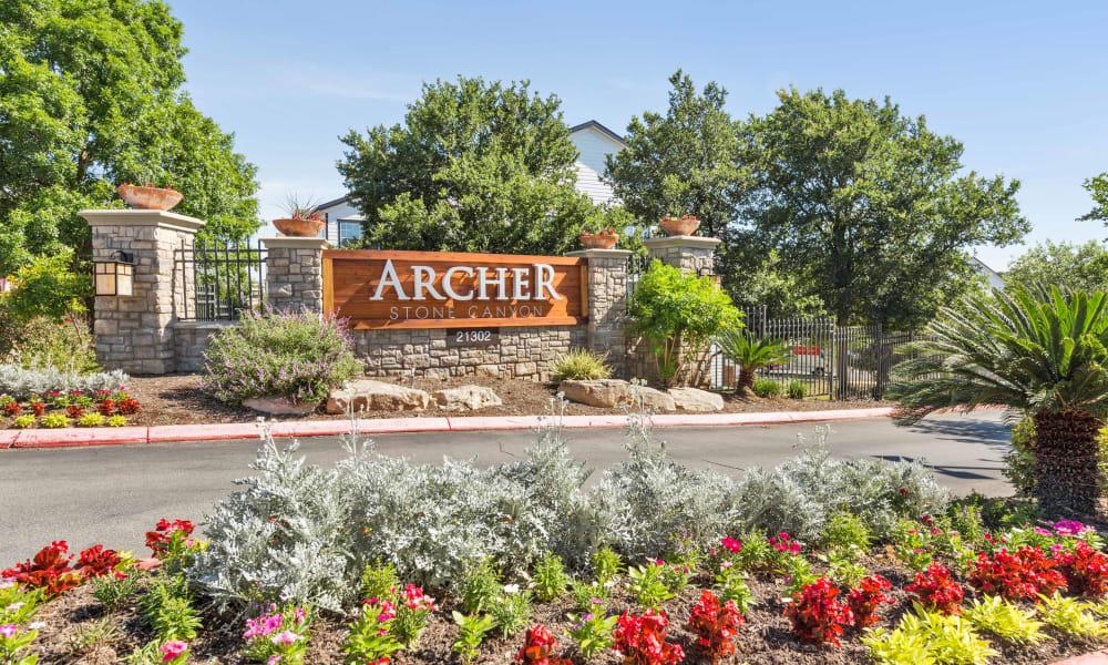 Front entrance of Archer Stone Canyon in San Antonio, Texas