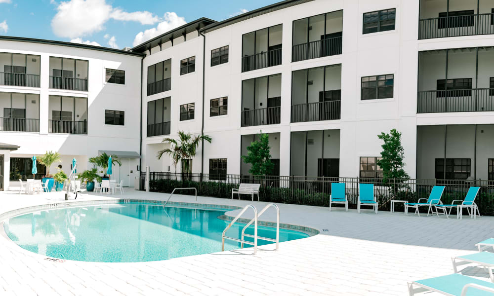 Outdoor pool at Keystone Place at Four Mile Cove