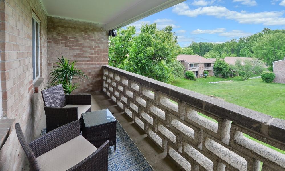 Beautiful patio views at Marchwood Apartment Homes
