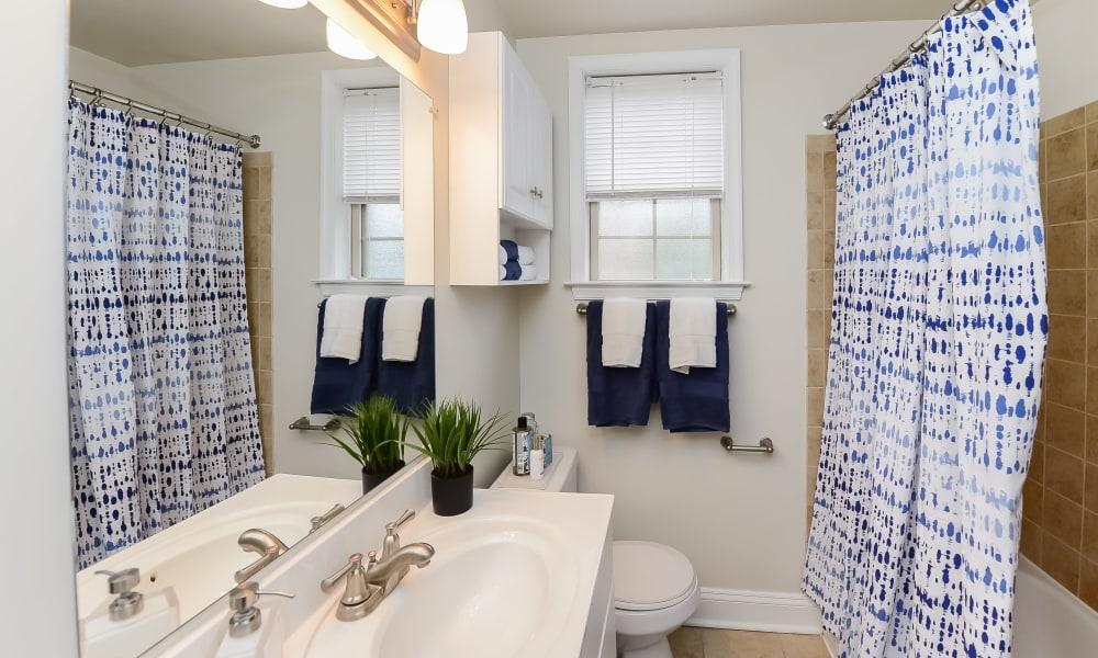 Bathroom at The Villas at Bryn Mawr Apartment Homes