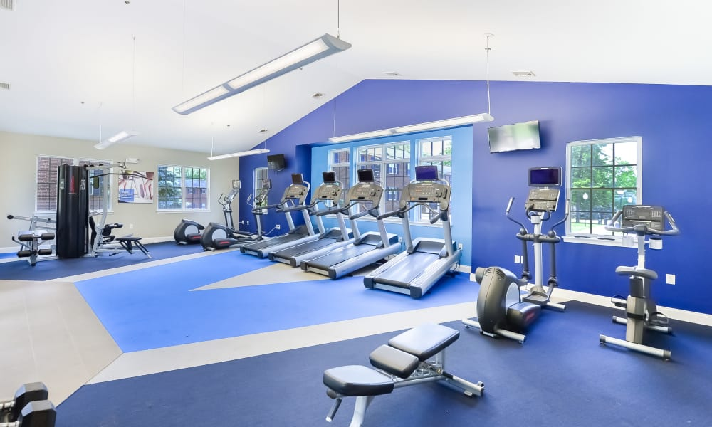 Fitness center at The Villas at Bryn Mawr Apartment Homes