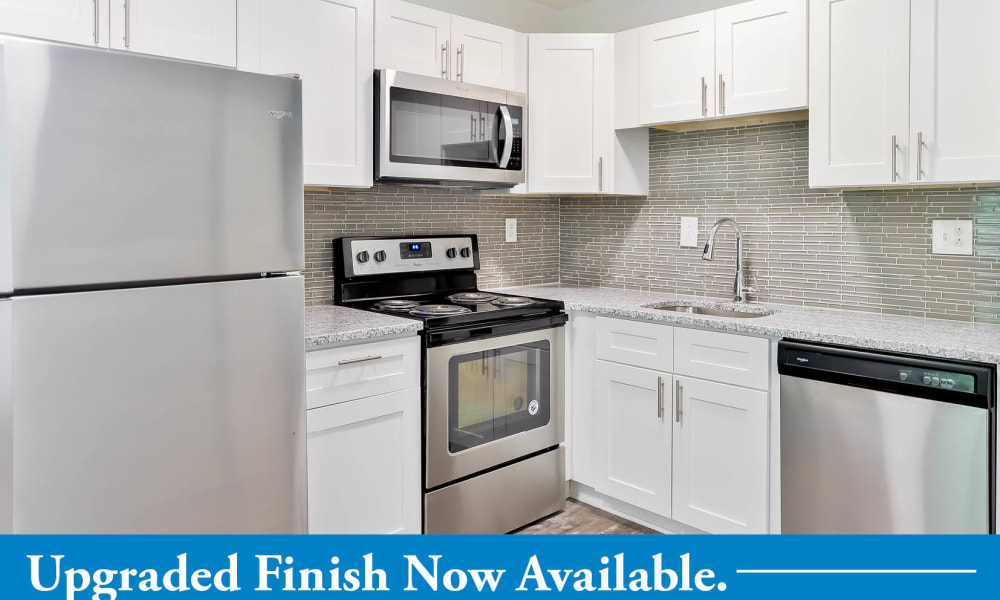 Stainless appliances offered at Marchwood Apartment Homes