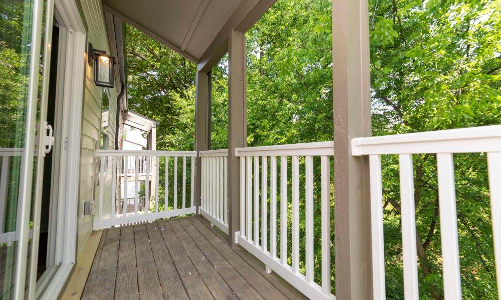 Patio deck of The Halsten in Atlanta, Georgia