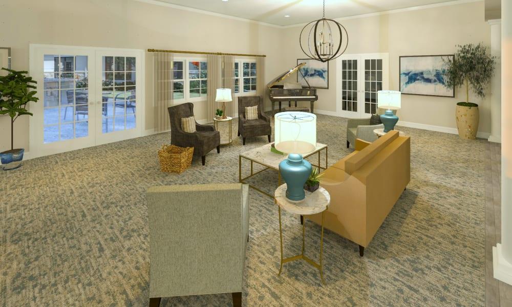 Common living room at Boonesboro Trail Senior Living in Winchester, Kentucky