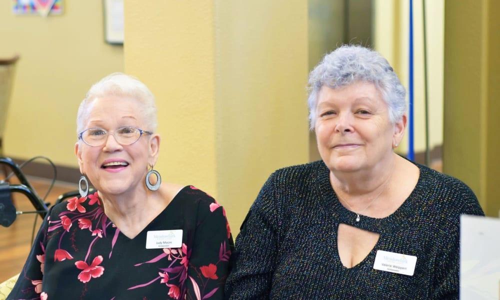 Two residents at Meadowlark Senior Living