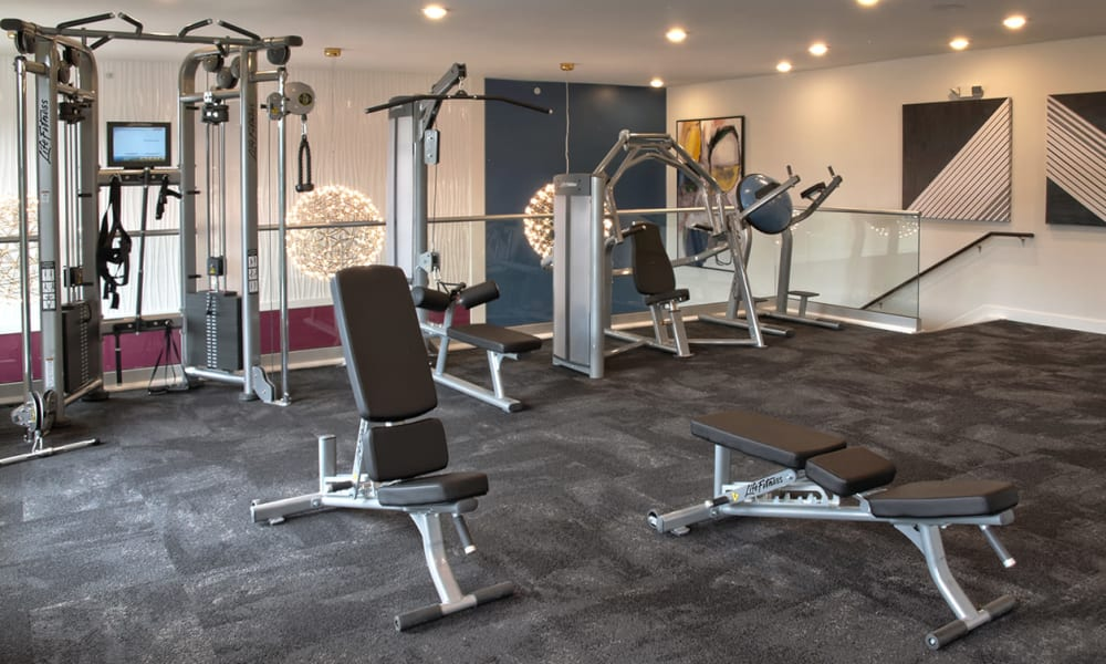 Beautiful Fitness Center at Apartments in Louisville, Kentucky