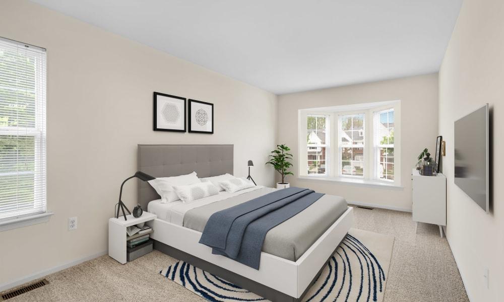 Model bedroom at Wyndchase in Canton, MI