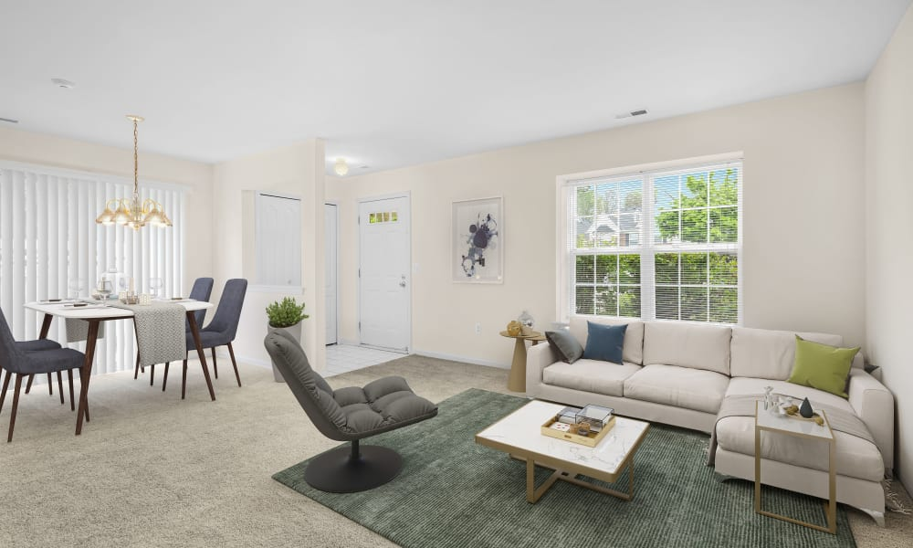 Model living room at Wyndchase in Canton, MI