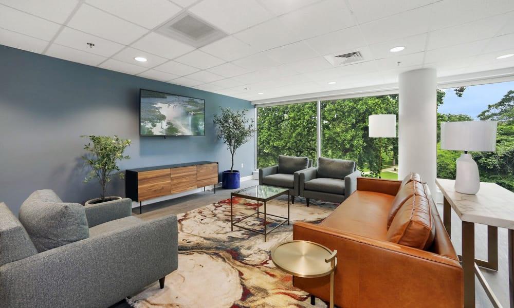 community room TV area