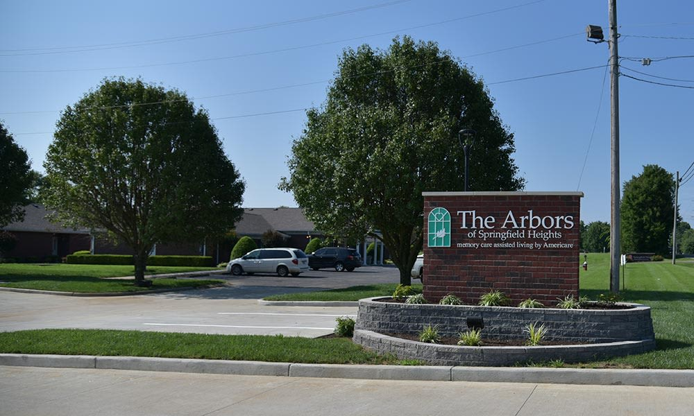 Branding and Signage outside of The Arbors at Springfield Heights in Springfield, Tennessee