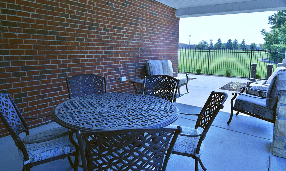 Secure outdoor living space at Springfield Heights in Springfield, Tennessee
