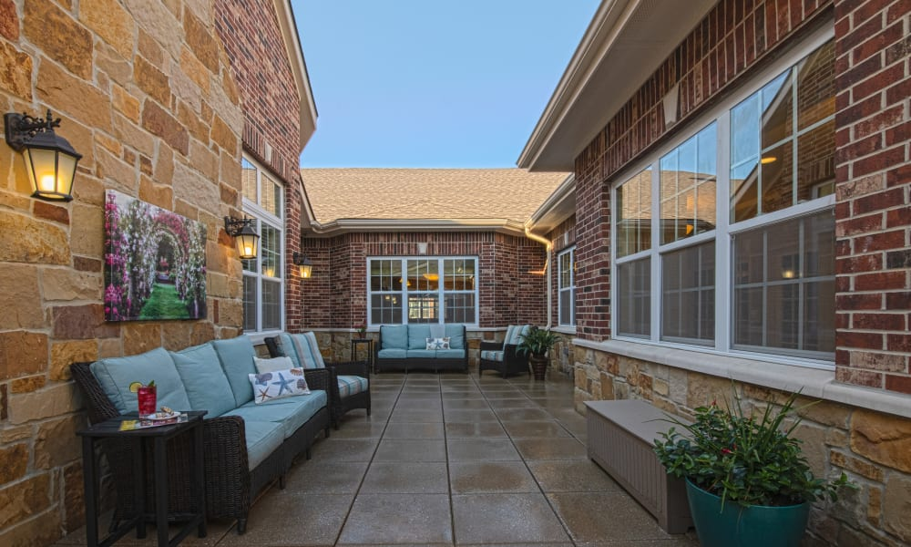 Enclosed Courtyard at Forest Creek Memory Care in Overland Park