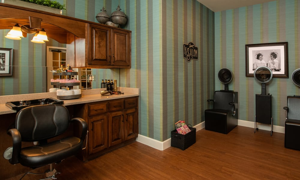 Beauty and Barber Shop at Willow Creek Memory Care at Lee's Summit