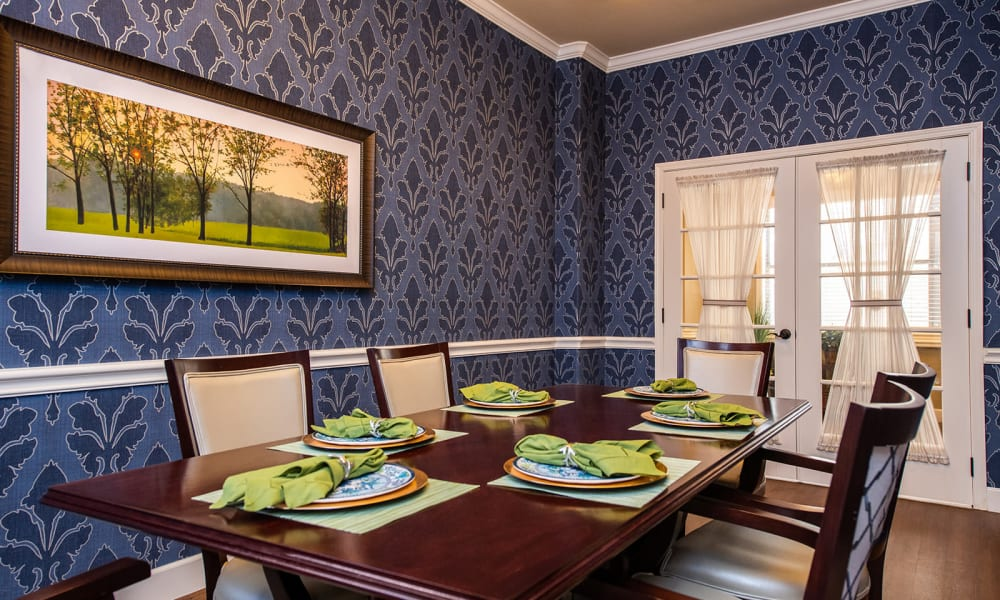 Private Dining Options at Willow Creek Memory Care at Lee's Summit