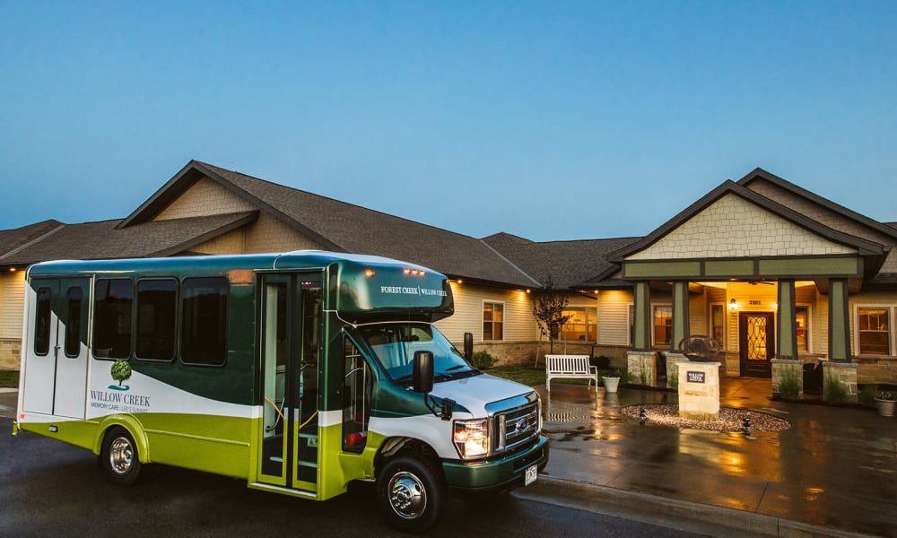 Outdoor Views and Transportation Services at Willow Creek Memory Care at Lee's Summit
