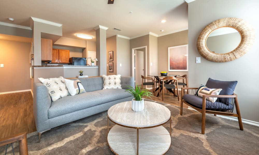 Luxury Living Room at Apartments in Benbrook, Texas