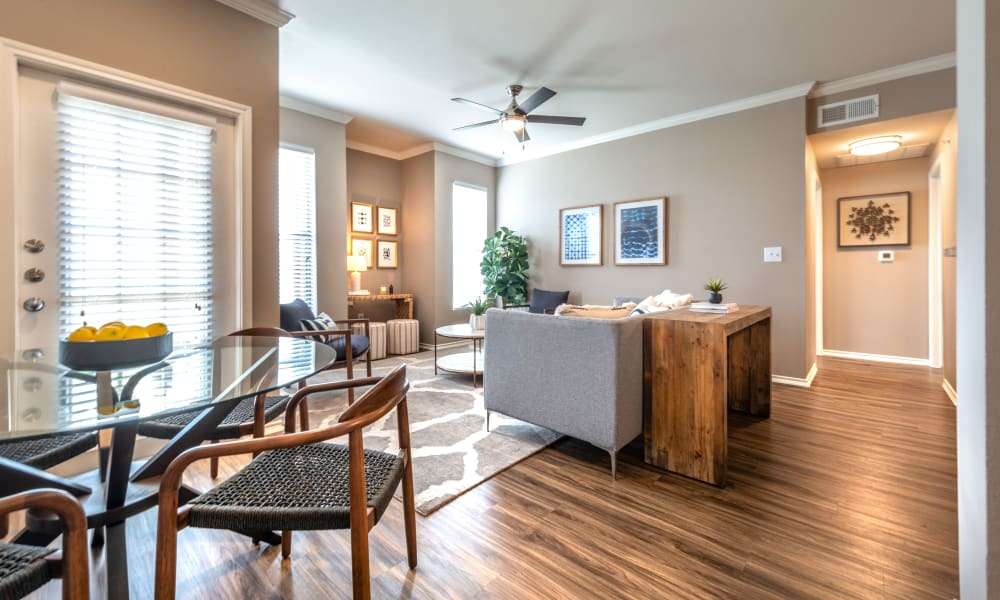 Beautiful Living Room at Apartments in Benbrook, Texas