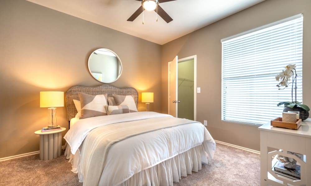 Beautiful Bedroom with large window at Olympus Team Ranch in Benbrook, Texas