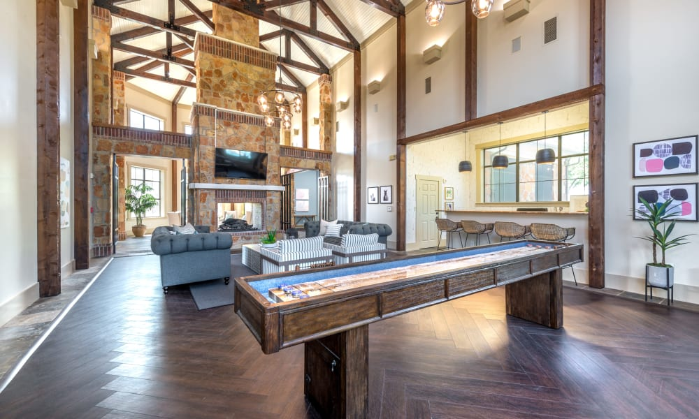 Our Beautiful Apartments in Benbrook, Texas showcase a Clubhouse with gaming area