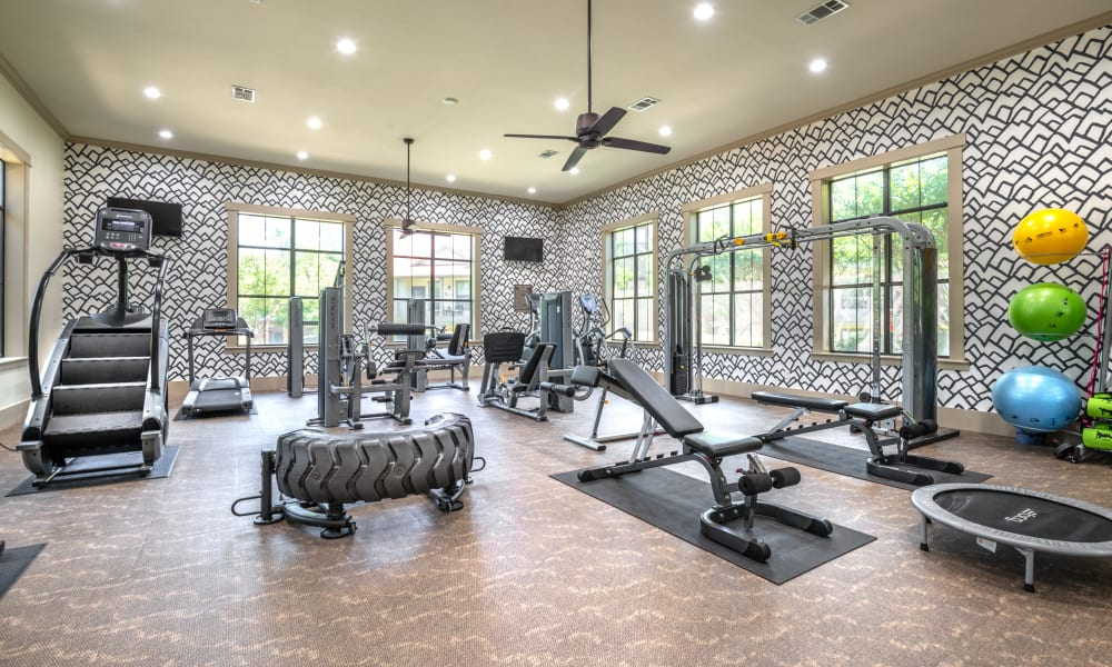 Luxury Fitness Center at Apartments in Benbrook, Texas