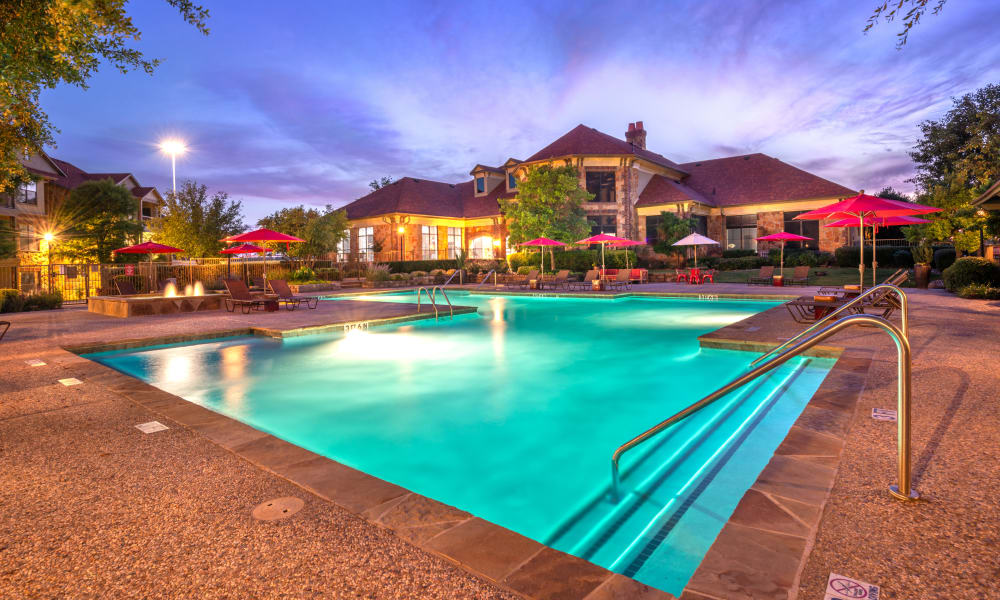 Beautiful Swimming Pool at Olympus Team Ranch in Benbrook, Texas
