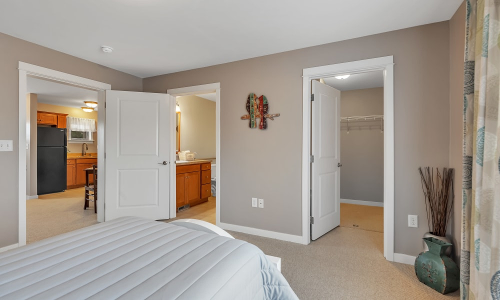 Model bedroom at Landings of Oregon in Oregon, Ohio
