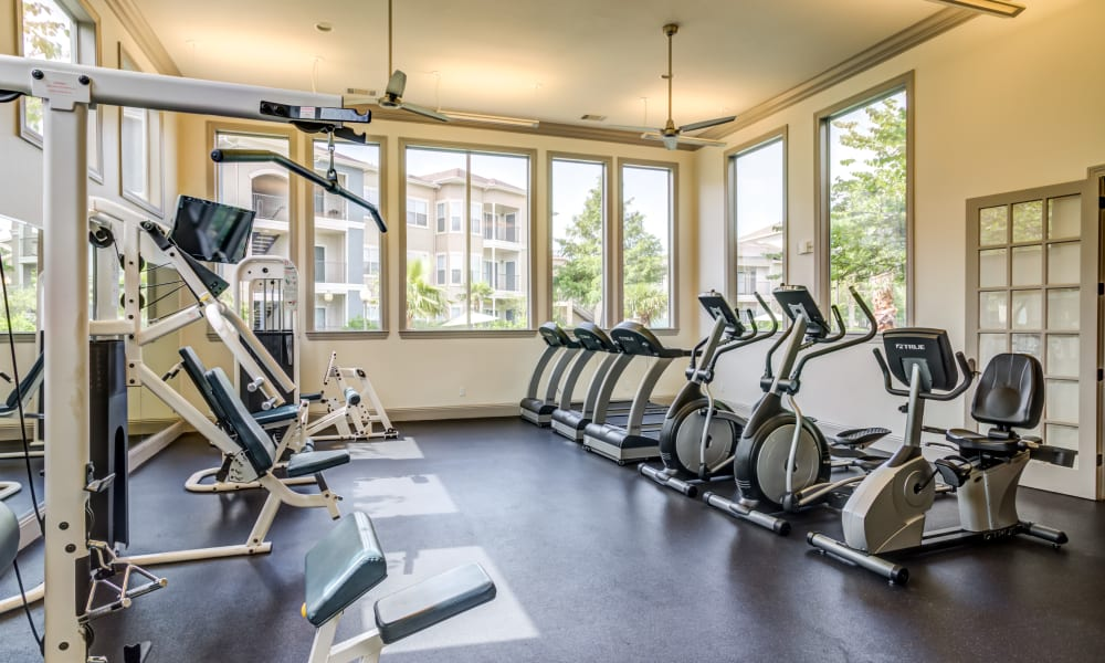 The Villas at River Park West offers a Fitness Center in Richmond, Texas