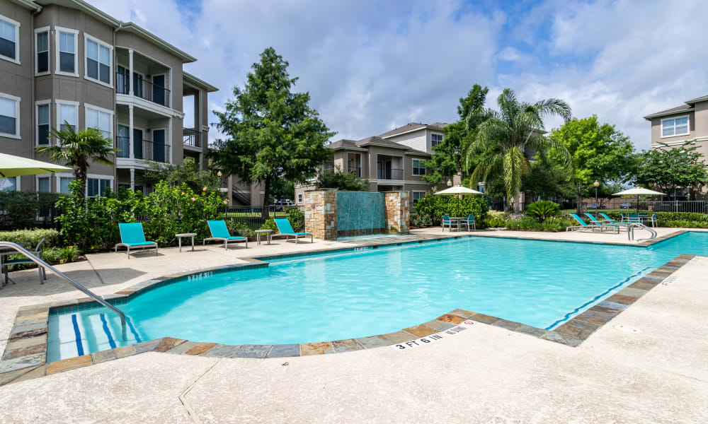 Swimming Pool at The Villas at River Park West in Richmond, Texas