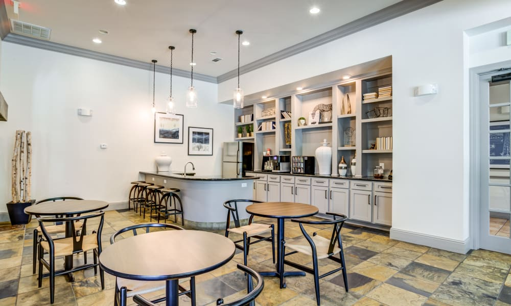Kitchen in Clubhouse at The Villas at River Park West in Richmond, Texas