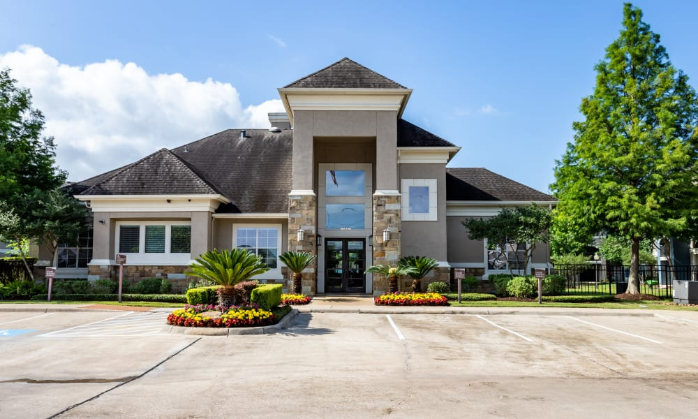 Exterior of office at The Villas at River Park West in Richmond, Texas