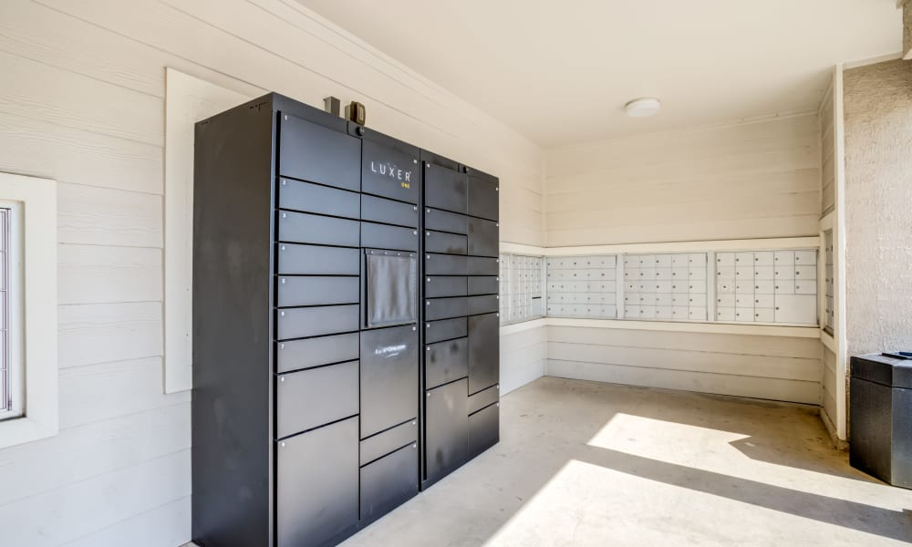 lockers at The Villas at River Park West in Richmond, Texas