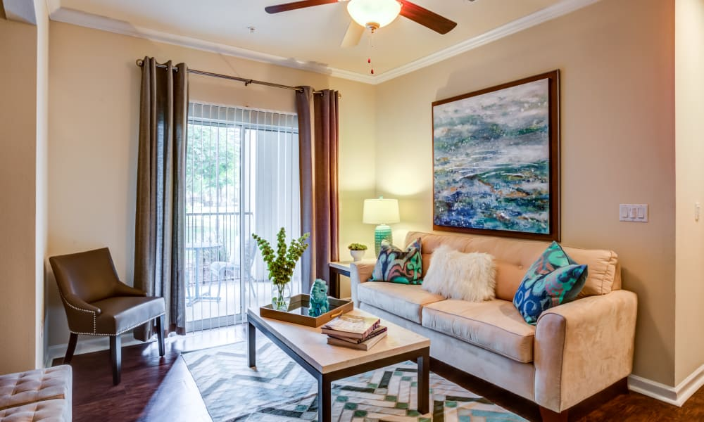 The Villas at River Park West offers a Living Room in Richmond, Texas