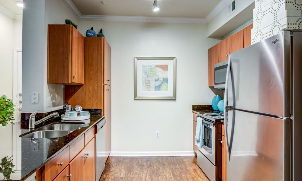 Kitchen at The Villas at River Park West in Richmond, Texas