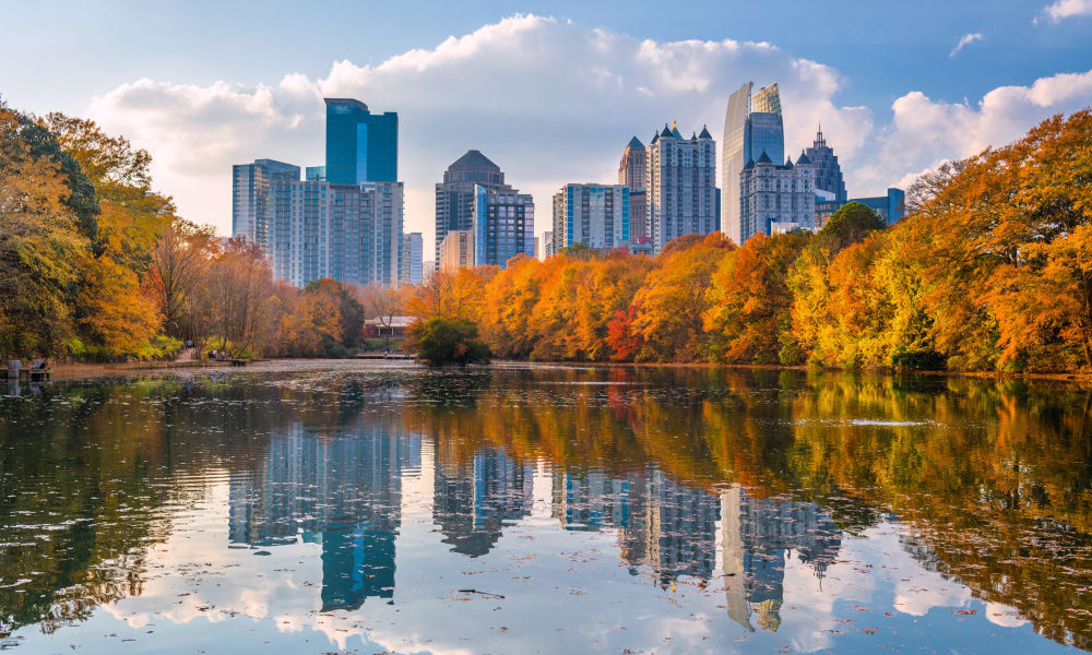 The river near The Westlight Apartments in Atlanta, Georgia
