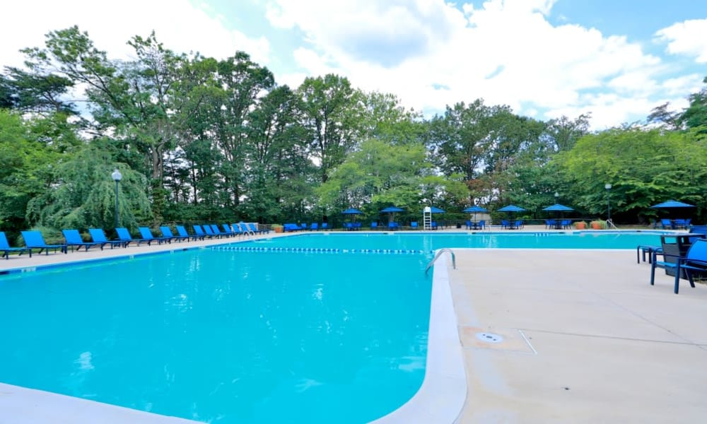 Beautiful Pool at Apartments in Alexandria, Virginia