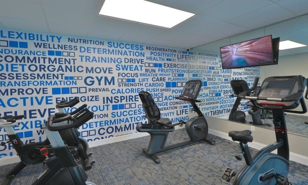 Spacious Gym at Brookdale at Mark Center Apartment Homes in Alexandria, Virginia
