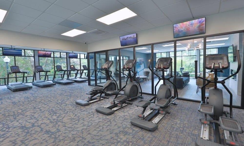 Spacious Gym at Stoneridge at Mark Center Apartment Homes in Alexandria, Virginia