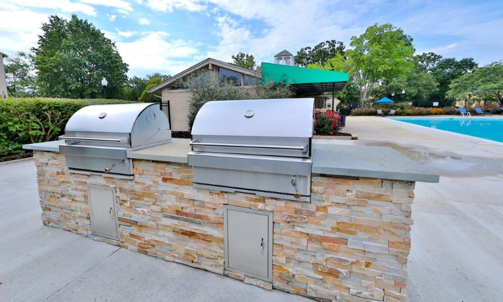Outdoor Grills at Villages at Montpelier Apartment Homes in Laurel, MD