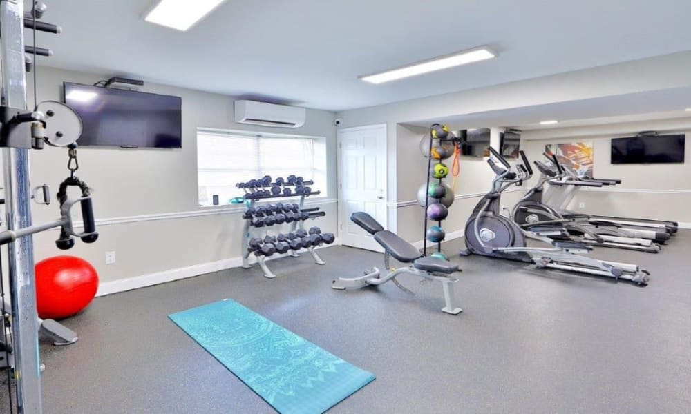 Spacious Gym at Towson Crossing Apartment Homes in Baltimore, MD