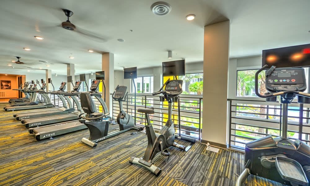 Fitness equipment at Fusion