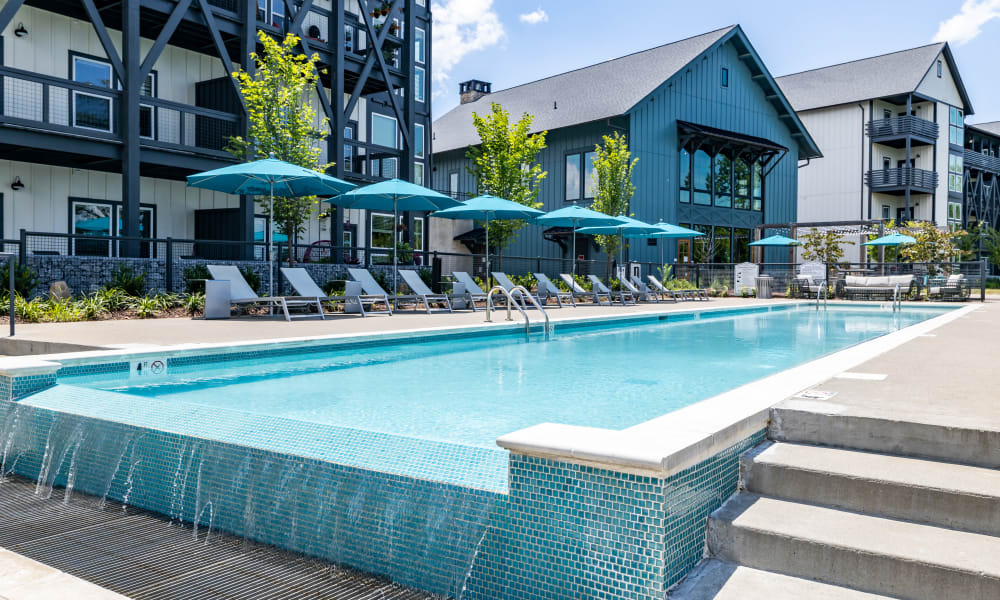 Swimming pool  at Rivertop Apartments in Nashville, Tennessee